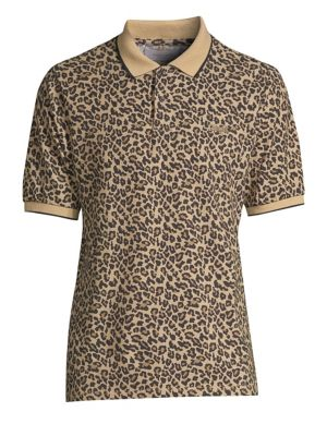 OVADIA & SONS Leopard Cotton Polo Shirt