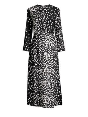 RIXO LONDON Alice Dotted Silk Dress