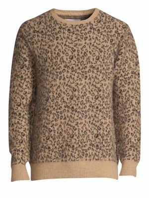 OVADIA & SONS Leopard Jacquard Sweater