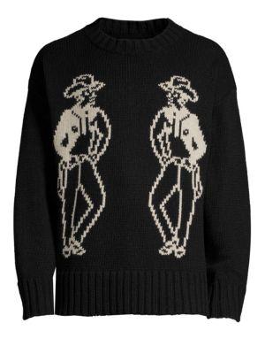 OVADIA & SONS Cowboy Intarsia Knit Sweater