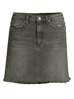 Wendi The Bell Denim Mini Skirt