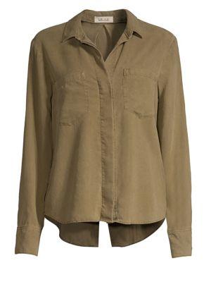 BELLA DAHL | Split Back Shirt | Goxip