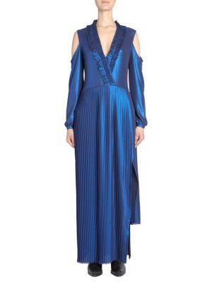 EACH X OTHER | Pleated Metallic Maxi Dress | Goxip