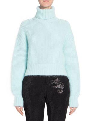 Crop Turtleneck Knit Sweater
