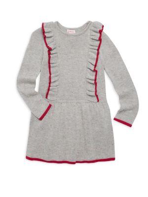 Little Girl's Knit Ruffle Dress