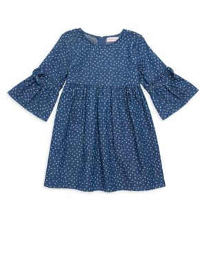 Little Girl's Polka Dot Heart Dress