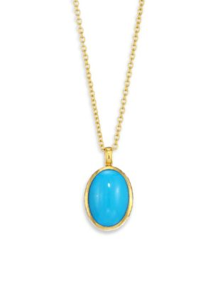 GURHAN 24K Yellow Gold & Turquoise Pendant Necklace