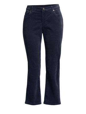 Corduroy Crop Flare Jeans