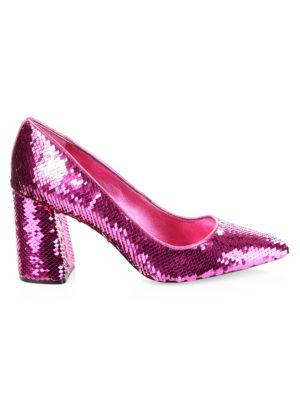 Demetra Sequin Block Heels