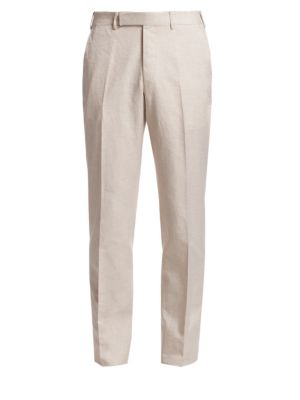 Cotton Textured Trousers