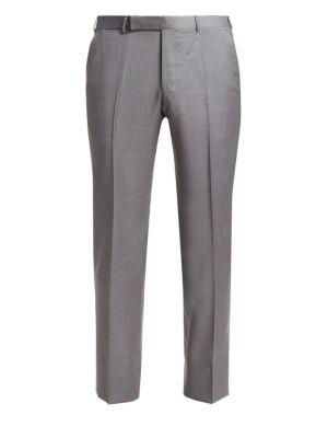 Achillfarm Wool Straight Leg Trousers