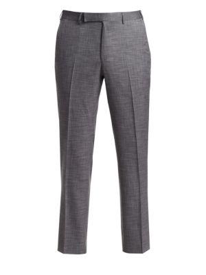 Wool-Blend Slim Trousers