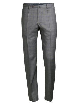Super 130's Windowpane Virgin Wool Trousers