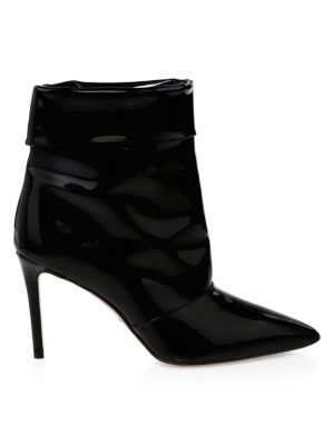 PAUL ANDREW Banner Pointed Leather Ankle Boots