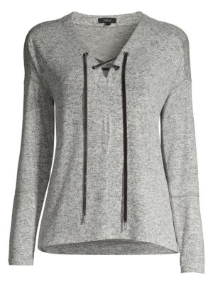 Leigh Lace-Up Lounge Top