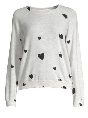 Raglan Sleeve Heart Pullover