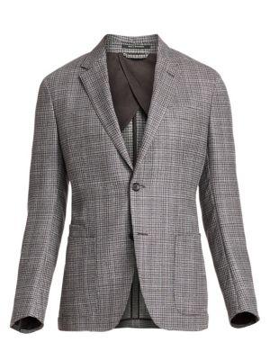 Textured Wool & Silk Tweed Blazer