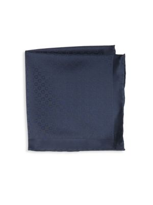 Tonal Gancini Silk Pocket Square
