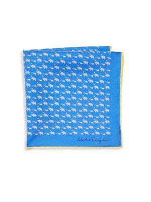 Elephant & Mouse Silk Pocket Square