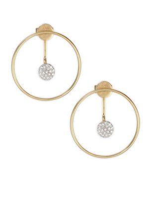 PHILLIPS HOUSE Affair Diamond & Gold Hoop Infinity Enhancer Earring