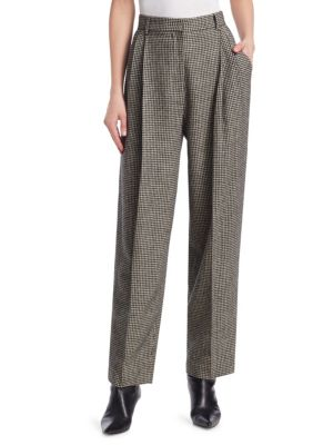 Nica Camel Hair Herringbone Trousers