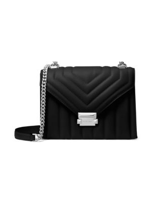 Large Whitney Quilted Leather Shoulder Bag