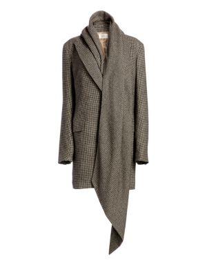 Mewey Scarf Houndstooth Coat