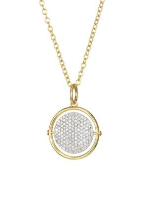 Affair 14K Yellow Gold & Diamond Infinity Spinner Necklace