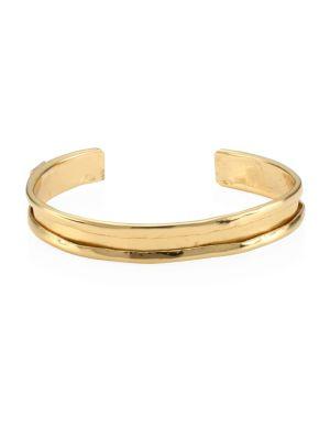 24K Gold-Plated Sterling Silver Cuff Bracelet