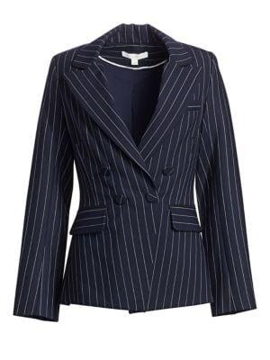 Pinstripe Tailor-Fit Blazer, Midnight Pinstripe