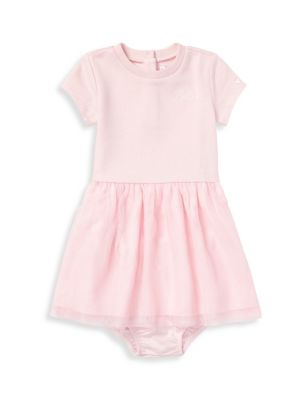 Baby Girl's Two-Piece T-Shirt Dress and Bloomers Set