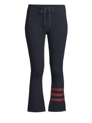 Striped Kick Flare Pants