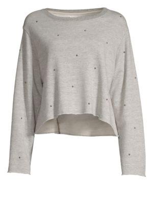 Boxy Studded Sweatshirt