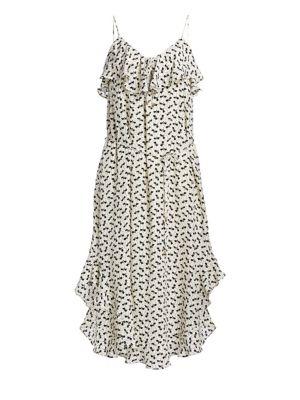 Flounce Silk Tank Dress