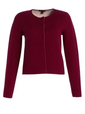 COLLECTION Wool & Cashmere Double-Faced Cropped Jacket