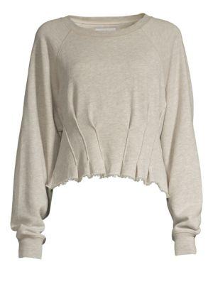Pintuck Sweatshirt