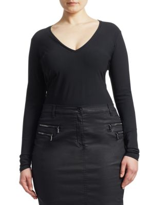 ASHLEY GRAHAM X MARINA RINALDI Ashley Graham X Marina Rinaldi Long Sleeve Body Suit
