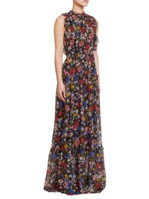 Ava Sleeveless Silk Gown