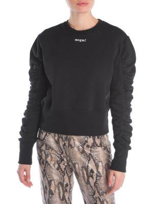 Ruched Logo Sweatshirt