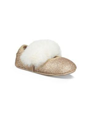 Baby's Pre-Walker Faux Fur Glitter Ballet Flats