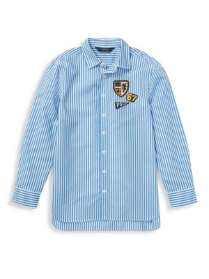 Girl's Long Sleeve Striped Shirt