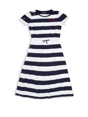 RALPH LAUREN | Girl's Stripe Maxi Dress | Goxip