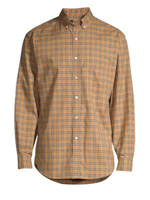Jameson Check Woven Plaid Button-Down