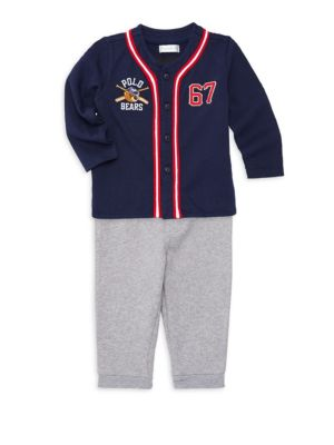 Baby Boy's Two-Piece Baseball Top and Pants