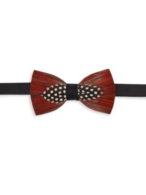 Chehaw Pheasant Feather, Guinea Feather & Satin Bow Tie
