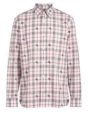 Edward Check Woven Button-Down Shirt