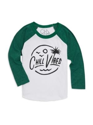 Little Boy's & Boy's Chill Vibes Long-Sleeve Tee
