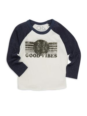 Little Boy's & Boy's Good Vibes Long-Sleeve Shirt