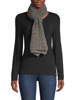 CAROLYN ROWAN Scattered Sequined Cashmere Scarf