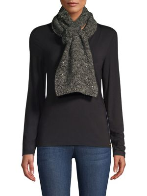 CAROLYN ROWAN Scattered Sequin Cashmere Scarf